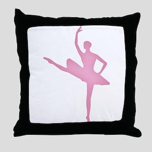 Pink Ballerina Throw Pillow