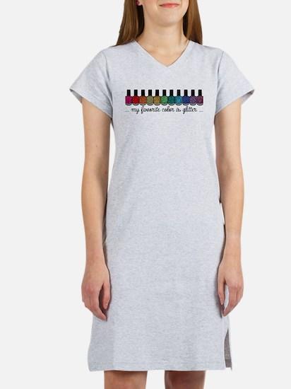 My Favorite Color Is Glitter Women's Nightshirt