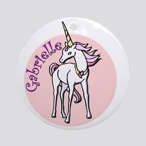Gabrielle Unicorn Ornament (Round)