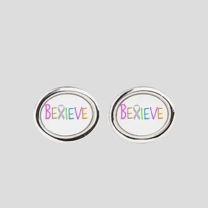 Believe Oval Cufflinks