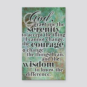 The Serenity Prayer Rectangle Car Magnet