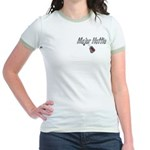 USAF Major Hottie ver2 Jr. Ringer T-Shirt