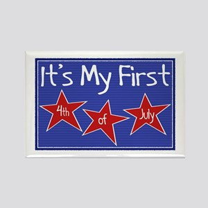 1st 4th of July Rectangle Magnet