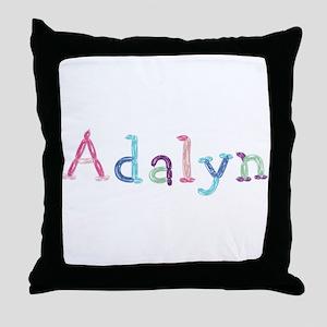 Adalyn Princess Balloons Throw Pillow