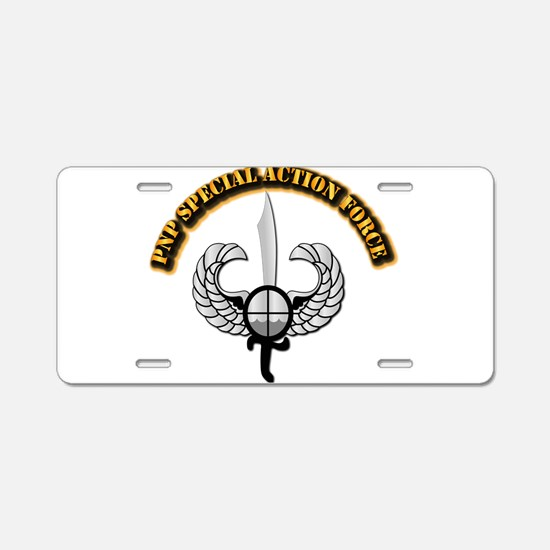 PNP Special Action Force Aluminum License Plate