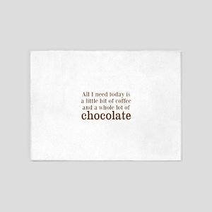Lot of Chocolate 5'x7'Area Rug
