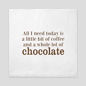 Lot of Chocolate Queen Duvet