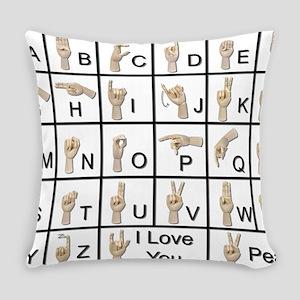 AmeslanAlphabet120710 Everyday Pillow