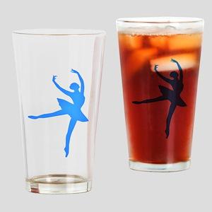 Blue Ballerina Drinking Glass