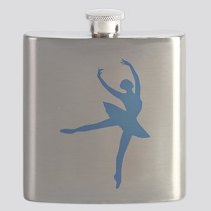 Blue Ballerina Flask