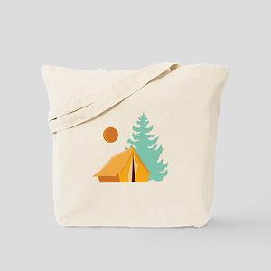 Camp Scene Tote Bag