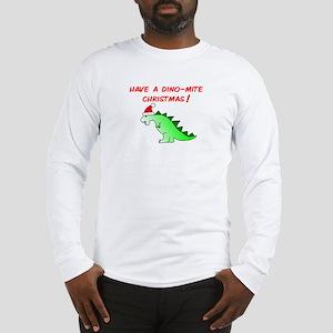 DINO-MITE CHRISTMAS Long Sleeve T-Shirt