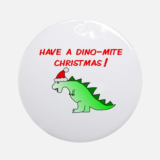 DINO-MITE CHRISTMAS Ornament (Round)