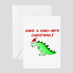 DINO-MITE CHRISTMAS Greeting Card
