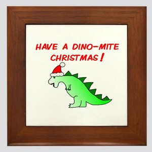 DINO-MITE CHRISTMAS Framed Tile