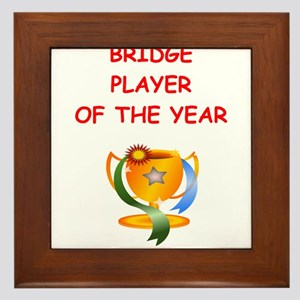 a funny bridge joke on gifts and t-shirts. Framed