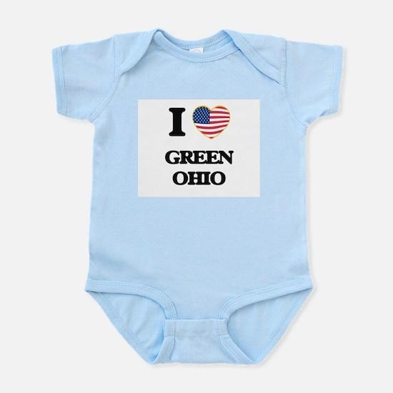 I love Green Ohio Body Suit