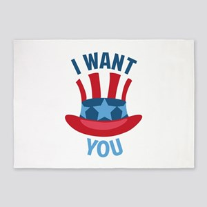 I Want You 5'x7'Area Rug