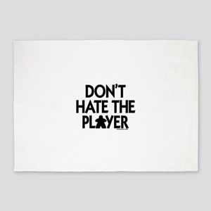 Don't Hate the Player 5'x7'Area Rug