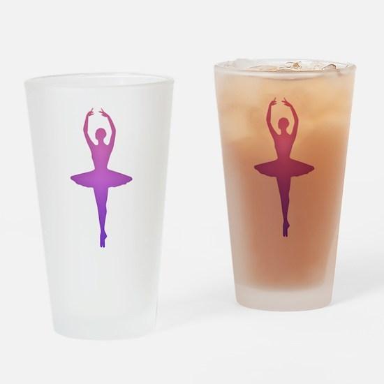 Ballerina Sillouette Drinking Glass