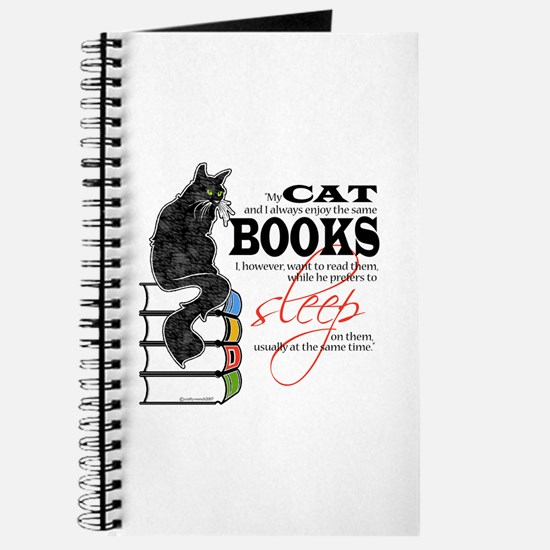 Cat and Books 2 Journal
