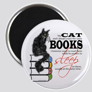 Cat and Books 2 Magnet