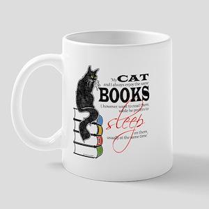 Cat and Books 2 Mug