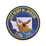 USS HENRY M. JACKSON Button
