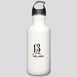 13 is my lucky number Stainless Water Bottle 1.0L
