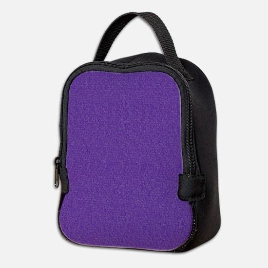 Solid Purple Glimmer Neoprene Lunch Bag