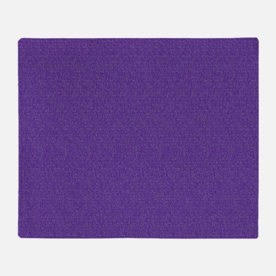 Solid Purple Glimmer Throw Blanket