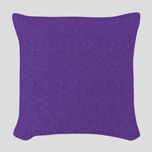 Solid Purple Glimmer Woven Throw Pillow