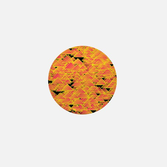 Tiny salmon triangles Mini Button