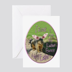 I Am An Easter Bunny! Card Greeting Cards