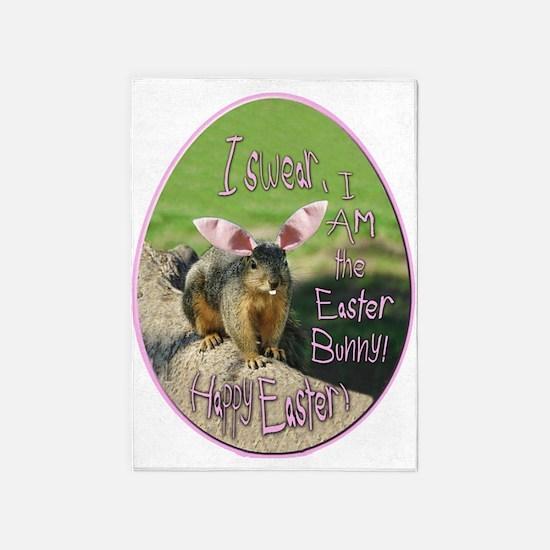 I Am An Easter Bunny! 5'x7'area Rug