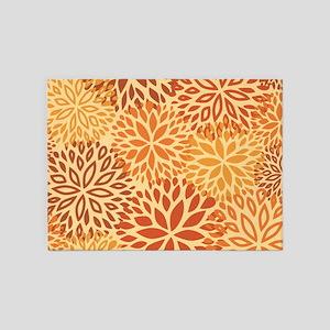 Vintage Floral Pattern 5'x7'Area Rug