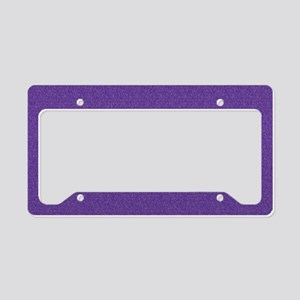 Solid Purple Glimmer License Plate Holder