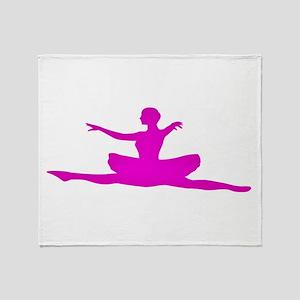 Leaping Ballerina Throw Blanket