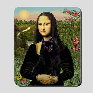 Mona Lisa & Schipperke (fr) Mousepad