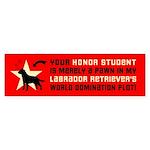 Labrador Retriever World Domination Sticker