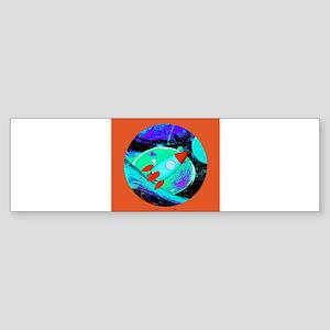 Space Ship Rocket Ship Bumper Sticker