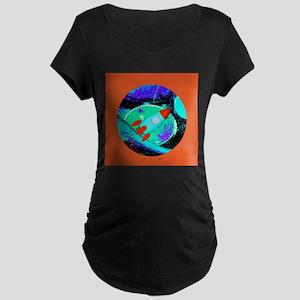 Space Ship Rocket Ship Maternity T-Shirt