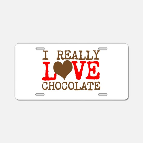 Love Chocolate Aluminum License Plate