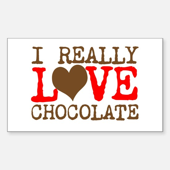 Love Chocolate Decal