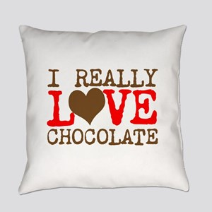 Love Chocolate Everyday Pillow