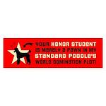 POODLE WORLD DOMINATION Bumper Sticker
