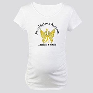 Neuroblastoma Butterfly 6.1 Maternity T-Shirt