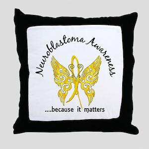 Neuroblastoma Butterfly 6.1 Throw Pillow
