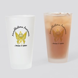 Neuroblastoma Butterfly 6.1 Drinking Glass