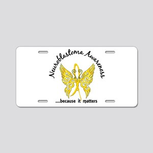 Neuroblastoma Butterfly 6.1 Aluminum License Plate